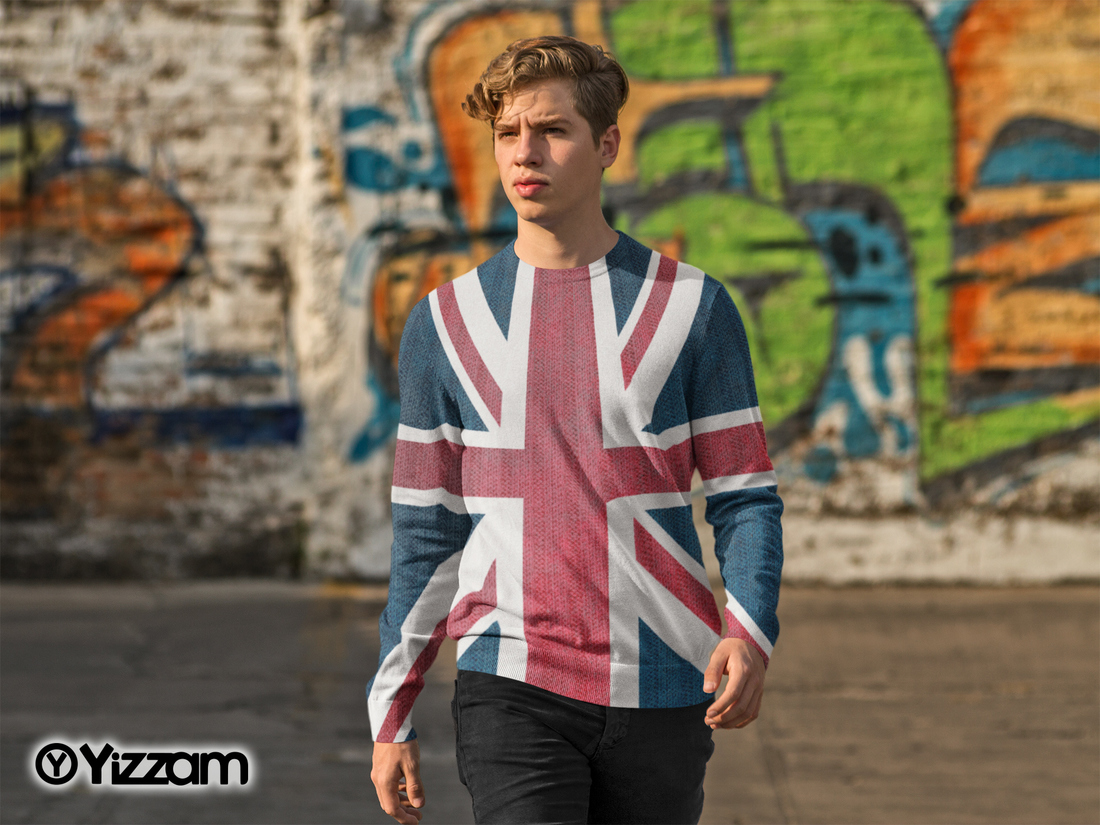 yizzam Union Jack Mens Long Sleeve