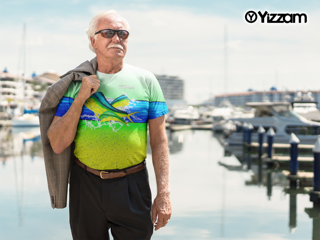 Yizzam Mahi Mahi Burst Mens Performance T-Shirt