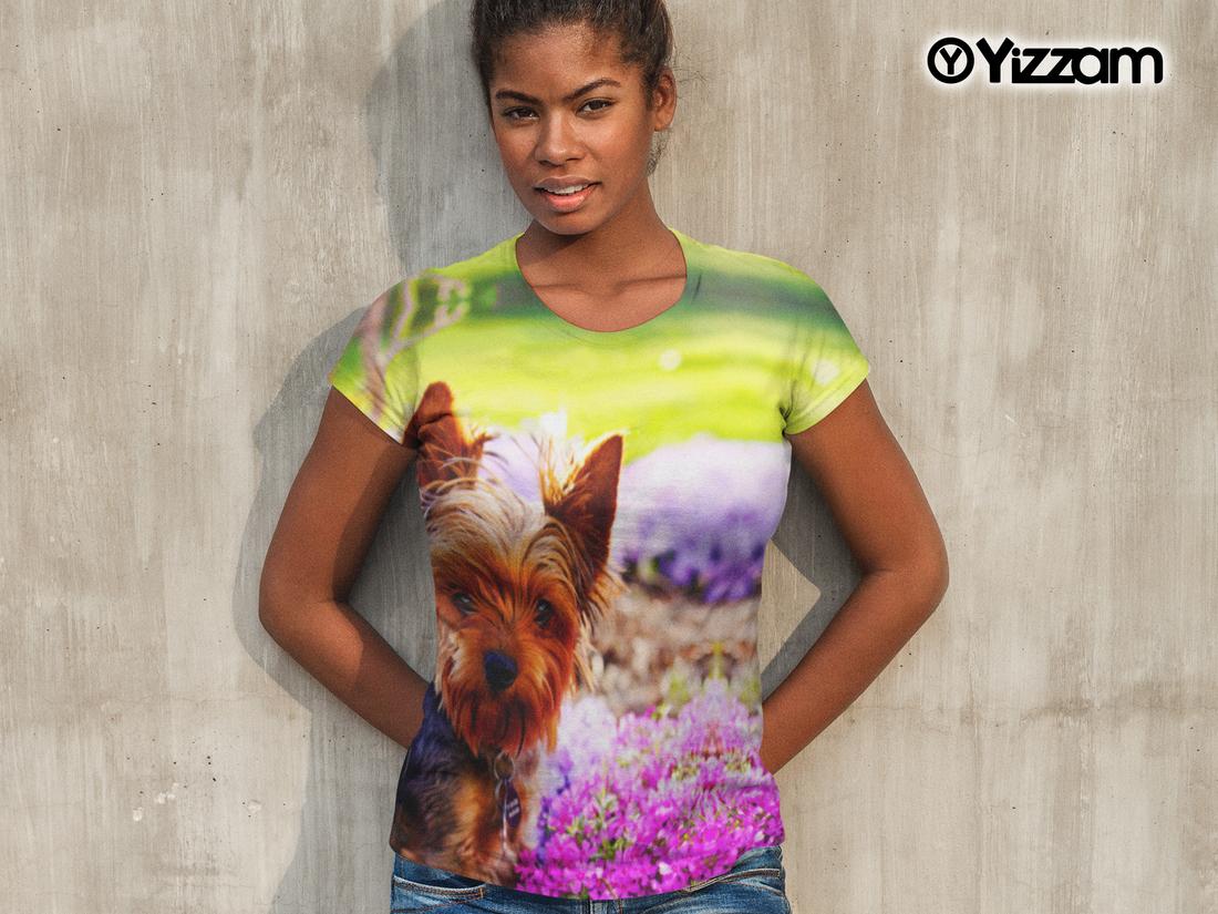 Yizzam Springtime Yorkie Womens Top
