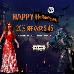 Halloween Costumes 20 % OFF $ 45!