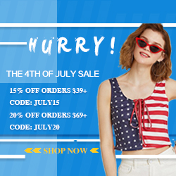 Hurry! The 4th of July sale is on, don't miss out!