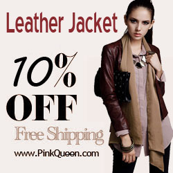 Fashion Leather Jackets 10% Off!