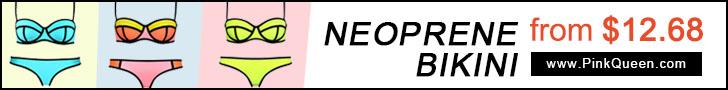 Neoprene Bikinis Free Shipping at PinkQueen.com!