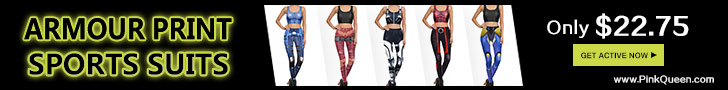 Amour Printed Sports Suits hot sale at PinkQueen.com