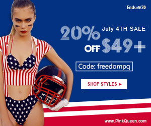 July 4th SALE at PinkQueen.com