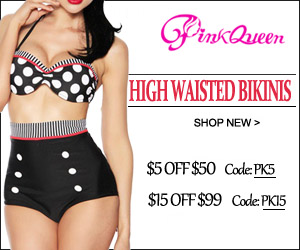 Buy High Waisted Bikinis At PinkQueen.com