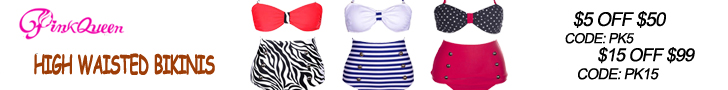 Buy High Waisted Bikinis at PinkQueen.com!