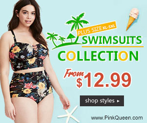 Plus Size Swimwear at PinkQueen.com