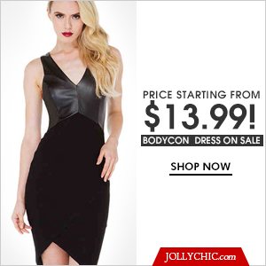Bodycon Dress On Sale-Save  up to 50% off  on over  175 Bodycon Dress.at JollyChic.com. Check out the Classy to Casual or formal bodycon dress for all of your special occasions.