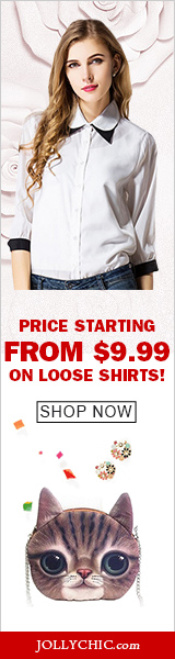 Loose Shirts on Sale - Save up to 56% Off on over 90+ Loose and Beautiful Shirts that all women would love at JollyChic.com. Check out the casual, colorful, comfortable, and fashionable loose shirts as low as $9.99. Coupon is not necessary.