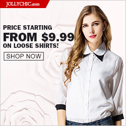 Loose Shirts on Sale - Save up to 56% Off on over 90+ Loose and Beautiful Shirts that all women would love at JollyChic.com. Check out the casual, colorful, comfortable, and fashionable loose shirts as low as $9.99. Coupon is not necessary. This offer end