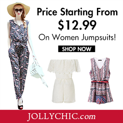 Women Playsuits on Sale - Save up to 59% Off on over 185+ Women Playsuits to delight your wardrobe this summer at JollyChic.com. Check out the comfortable and fashionable Women Playsuits!