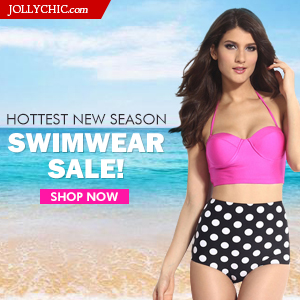 Swimwear Carnival At Jollychic.com! - Save up to 52% Off on 145+ swimwears Starting at $6.99 at JollyChic.com. Check out the lace, sexy, sassy, sheer, underwear, fishnet, bra, corset and much more Swimwears At Jollychic.com!. No Coupon necessary. This sal