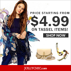 Tassel Pattern  Items on Sale – Save up to 59% Off on over 100+ Plaid  Tassel Pattern tops, bottoms,shoes,accessories at JollyChic.com. These selected Tassel Pattern tops, bottoms,shoes,accessories  are low as $3.99.
