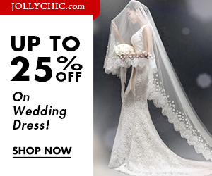 Wedding Dress Sale - Save up to 25% Off on more than 280 Wedding Dresses at JollyChic.com. Check out the formal and fashionable wedding dresses. No Coupon necessary.