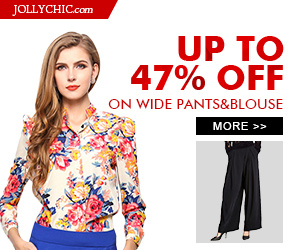 Wide Pants&Blouse on Sale - Save up to 47% Off on over hundreds of Wide Pants&Blouse that all women would love at JollyChic.com. Check out the casual, formal, colorful, comfortable, fashionable Wide Pants&Blouse for all occasions. Coupon is no