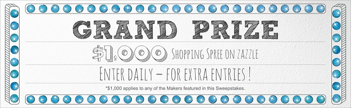 30 Days of Maker Giveaways on Zazzle