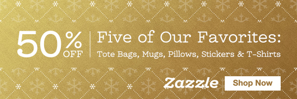 50% Off Tote Bags, Mugs, Pillows, Stickers & T-Shirts