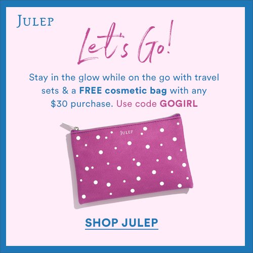 Let's Go! FREE cosmetic bag with any $30 pu