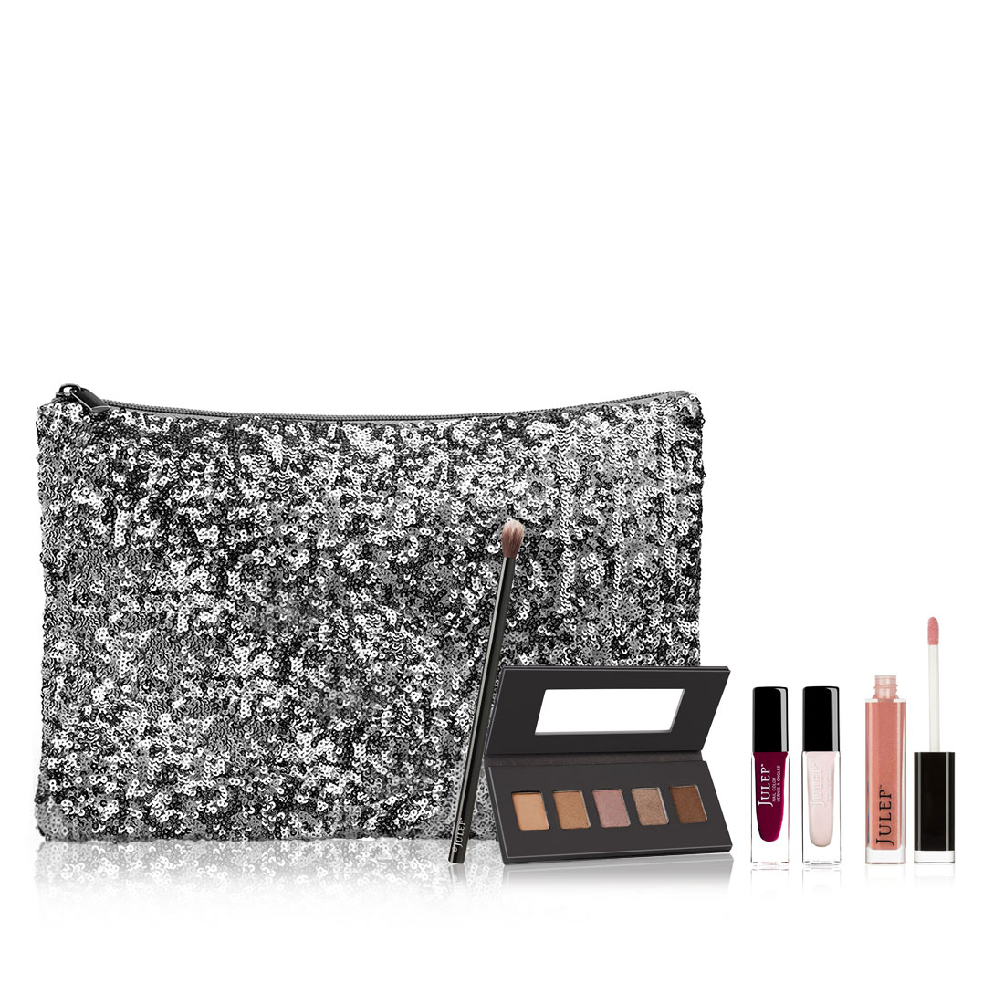 GlamGWP GunmentalSequinClutch Sweep Eyes HOT OFFER! $120 Holiday Glam Gift w/ Purchase FREE with $35 or more
