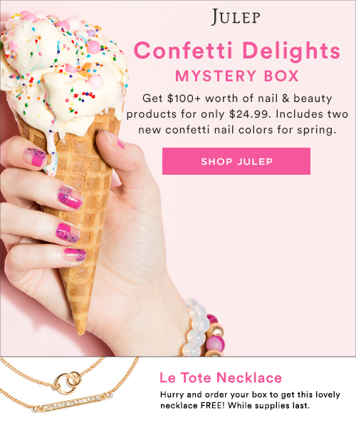 Confetti Mystery Box - $100+ of beauty & nail products for $24.99