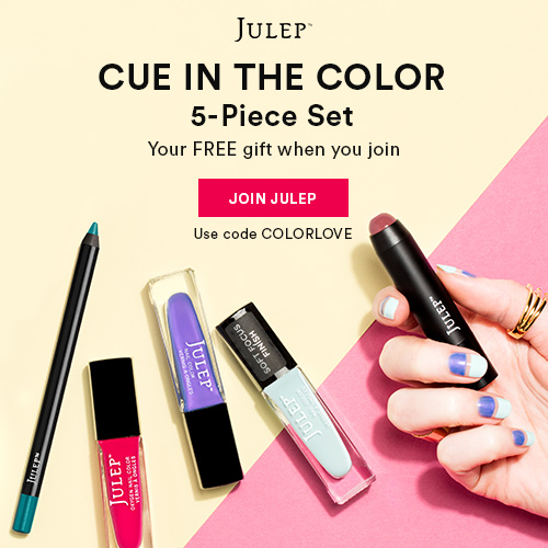 5 pc beauty gift FREE when you join Julep