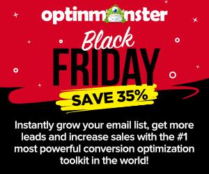 OptinMonster Black Friday Discount Sale 2019 - Save 35% 😍 2