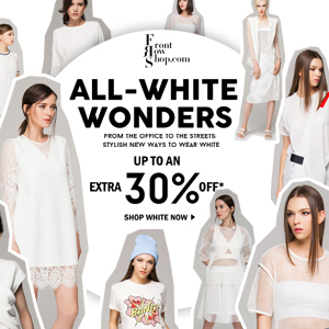 SUMMMER WHITE-UP TO 30% OFF