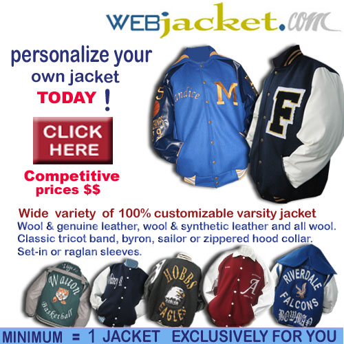 custom-made varsity letterman jacket