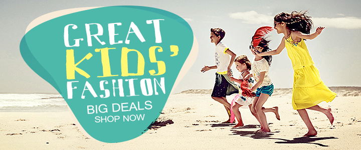 Great kids fashion, big deals, shop now!