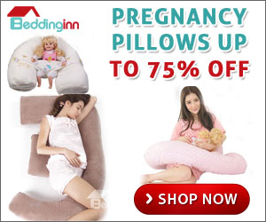 Save up to 75% off Pregnancy Pillows at BeddingInn.com!