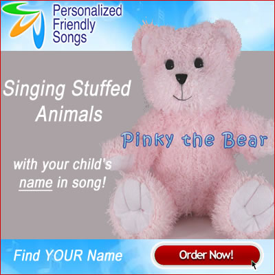 Personalized Singing Stuffed Animals Now available with any Song!
