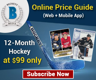 Save 25% on 12 Months Hockey Online Price Guide (Web + Mobile App) Subscription .Offer Price: $99
