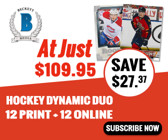 GET Dynamic Duo Hockey (1 Year Online Price Guide + Print Magazine Subscription ) for just $109.95