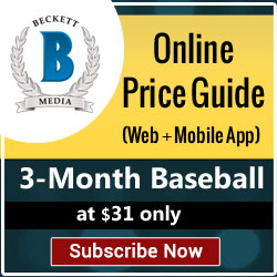 Save 6% on 3 Month Baseball Price Guide (Web + Ios) Subscription for $31