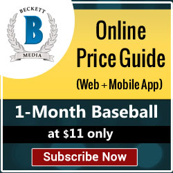 Buy 1 Month Baseball Price Guide (Web + Ios) Subscription for $11