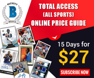 Total Access Sports Cards Online Price Guide 15 Days Subscription for $27