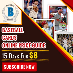 Subscribe Beckett Baseball Cards (Web Only) Price Guide 15 days Subscription for $8