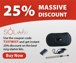 25% discount on ecigarette starter kits