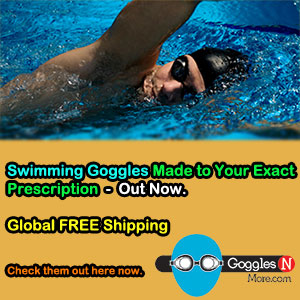 GogglesnMore's Made to Prescription Swimming Goggles with Free Global Shipping