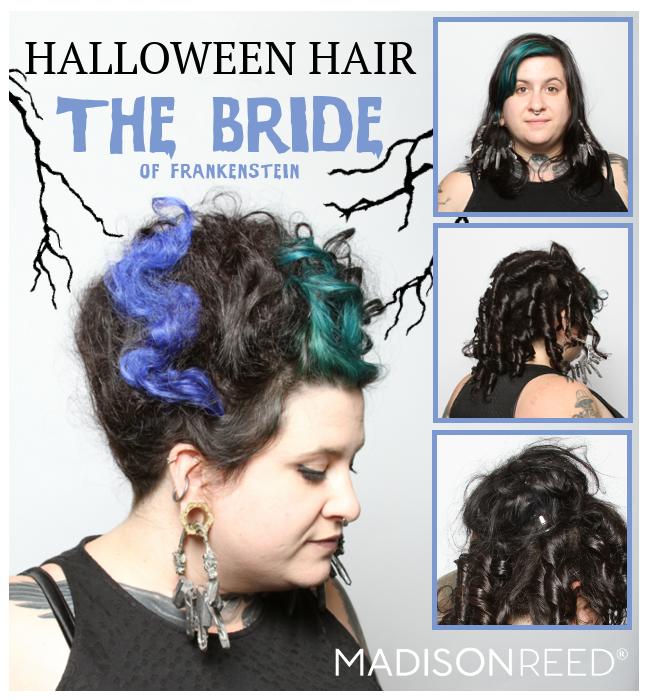 Halloween Hair Tutorials: Daphne, Tinkerbell, Bride of Frankenstein & MORE