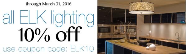 10% off all Elk Lighting at LightsOnline.com!