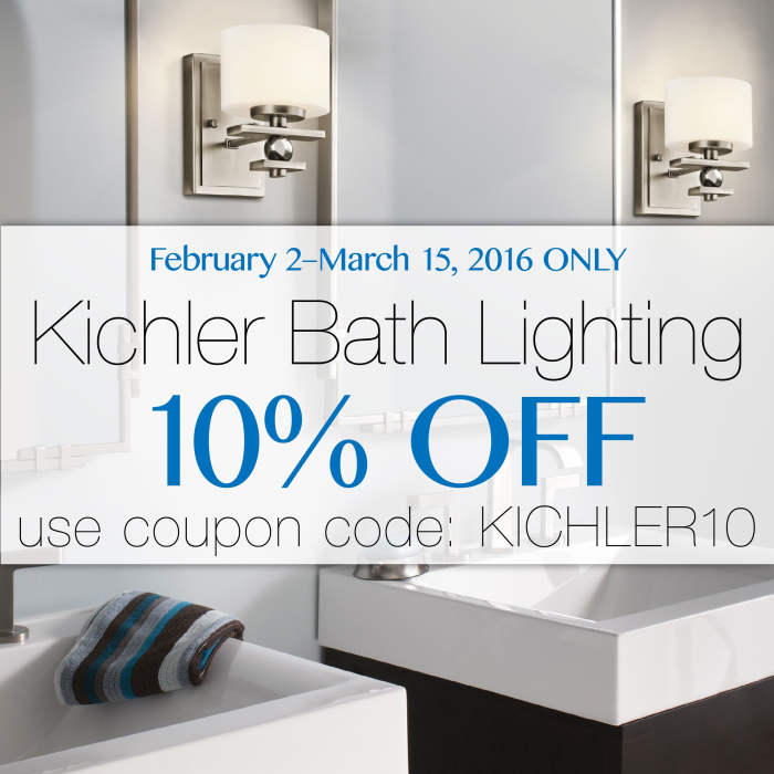 10% off Kichler bath lighting at LightsOnline.com!