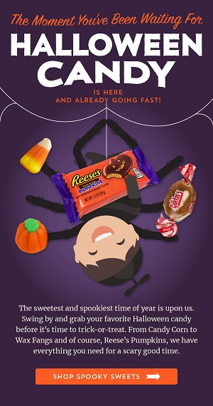 Halloween Candy Is Here! Save 10% Off Using Code: OTC0920 + Free Shipping On Orders $250+ At Old Time Candy!