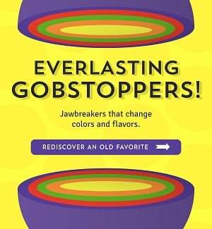 GOBSTOPPERS - The Jawbreakers that change color & Flavors At OldTimeCandy.com! Save 10% Using Code: OTC2018!