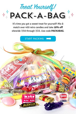 Pack-A-Bag Candy Sale! Pack-A-Bag Of Old Time Candy & Get 10% Off - Using Code: PACKABAG At OldTimeCandy.com! Good Now Thru 7/23/18!