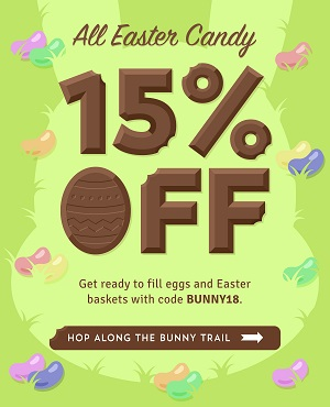 Save 15% On All EASTER CANDY Using Code: BUNNY18 At OldTimeCandy.com! Click Here!
