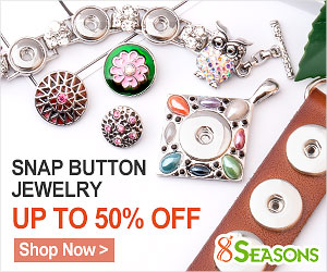 Trendy Snap Button Jewelry Promotion, Interchangeable Pattern