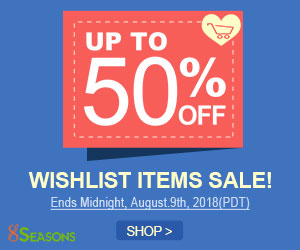 Wishlist Items Discounted Sale, Up to 50% Off
