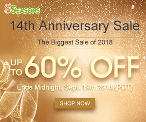 8seasons 14th Anniversary Sale, Up to 60% Off